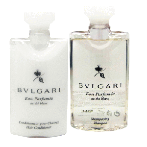 【Bvlgari】 Eau Parfumee Au The Blanc (ブルガリ オー パフュ-メ オウ ブラン=ホワイトティー) 2.5 oz (75ml) シャンプー & ヘアーコンディショナー